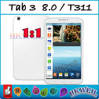 Wholesale Tab T311 Inch MTK6582 Quad Core GHZ Android Cell Phone G RAM G ROM GPS WIFI G Tablet PC MP Camera Single Sim Card WEIL