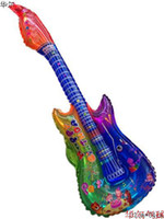 Multicolor inflatables - Hot sales wholesales Guitar Cheering stick inflatable toys CMX30CM Party balloon