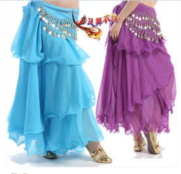 Wholesale Belly dance belly dance skirt new spiral skirt cake skirt dance practice performing skirt India dance costumes
