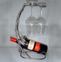 Wholesale Wrought iron wine rack wine rack wall wine rack wine rack wine rack upside down cup holder hanger yangmei