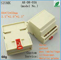 abs industrial - 2 pieces a abs plastic light grey mm inch industrial din rail control enclosure