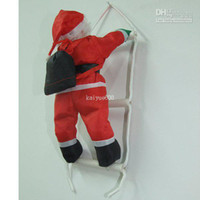 Wholesale Christmas Ornament Hanging Ladder SANTA Claus Toy