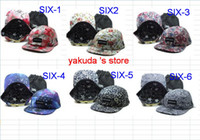 Wholesale 2014 New Arrived Fashion Caps Sixth june Snapback Hats Hat Adjustable Cap With Bag Panel Strap Back Hats Hot Flower Snapbacks Hat