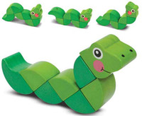 Wholesale Free shpping EMS Hot sale Melissa Doug Wiggling Worm Snake Grasping Educational Toys Activities Hands Xmas Gifts