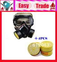 other Yes Double Gas Mask 2013 Best Selling Cheap Double Gas Mask Protection Filter Chemical Gas Respirator Face Mask With 4PCS Free Filter Box
