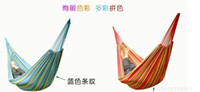 Wholesale Outdoor single colorful canvas hammock Hanging Hammock Holiday Tourism Camping Hunting Plain Fabric kg Loaded