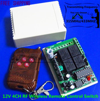 Wholesale DC V CH RF Wireless Remote Control Switch System MHZ MHZ Transmitter And Receiver MHZ MHZ