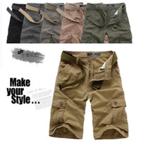 Wholesale High Quality Mens Casual Cargos Shorts Capri Pants Plus Size Men Cotton Shorts Casual Sports Fifth Pants AWD0428