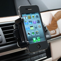Universal   Hot sale Free shipping car air ac outlet universal mobile phone holder cover stands univeral for cell phone apple MP4 auto accessories