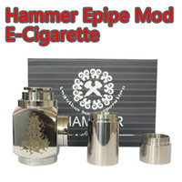 Electronic Cigarette Set Series  Hammer pipe Mod Kit E-Cigarette Mod Mechanical Stainless Steel E-pipe with 2 extension tubes Hammer battery body for 510 thread atomizer DHL