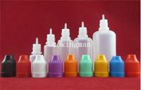 plastic bottle cap - 2015 Colorful Bottle caps needle Bottle ml ml ml ml ml Plastic Dropper Bottles CHILD Proof Caps Tips LDPE For E Vapor Cig Liquid