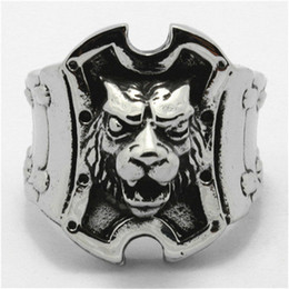 Hot!!Top Quality Animal Lion King Ring Wholesale Price 316L Stainless Steel Lion Cool Man Ring