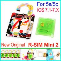 Unlocking Card att shipping - 100 Original R SIM mini R SIM mini2 R SIM MINI unlock IOS7 IOS ios x for iphone S C ATT T M SB