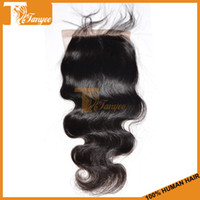Silk base closure Malaysian Hair Natural Color 6A Malaysian Virgin Human Hair 4*4 Inch Silk Base Closure Free Part Body Wave Length 8''-20'' 1pc Lot Natural Color 1B# Can Dye And Bleach
