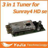 Wholesale 1pc Sunray SR4 se Triple Tuner only for HD se DVB S2 C T2 Receiver in Tuner