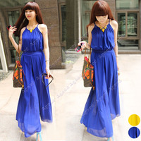 Wholesale Women s Ladies Fashion Loose Spaghetti Strap Chiffon Wide Leg Pants Maxi Jumpsuit