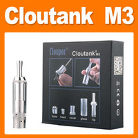 Electronic Cigarette Atomizer as picture Cloupor Cloutank M3 Clearomizer Pyrex Glass Clear Vaporizer 2in1 for Dry Herb Atomizer fit for Ego 510 thread e cigarette(0203088)