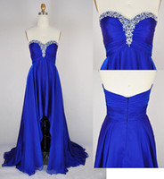 Wholesale 2014 New Collection A Line Court Train Zipper Back Graduation Gown Cocktail Homecoming Dresses With Sweetheart Neckline and Sequins Bead Top