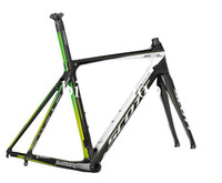 Wholesale SCOTT Foil Premium Road Bike Frames BB91 T800 K Glossy Finished Carbon Fibre Bicycle Frames Including Frame Fork Seatpost Clamp Headset