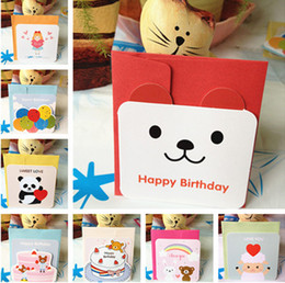 12 cartoon patterns birthday gift card mini lovely birthday greeting card thank you card pack with colorful envelope