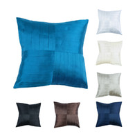 Wholesale Euphoria Home Decor Cushion Cover Throw Pillow Case Shell Handmade Ruffled Striped Fan Solid White Ecru Grey Brown Blue Black Color quot X17 quot