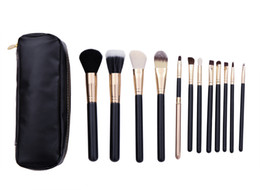 Wholesale Fashion Loving black high quality Professional Makeup Cosmetic Brush set Kit Case Face Powder Brushes Foundation Brushes H1076A