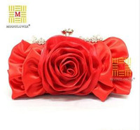 Wholesale New Evening Bag With Shoulder Stripe Flower Style Polyester colors B4