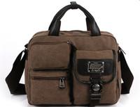 Wholesale Mens Canvas Handbag Satchel Shoulder Bag