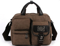 Mens Canvas Handbag Satchel Shoulder Bag
