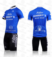 Wholesale 2014 JOHNNY S bike jerseys bib short sleeve cycling jerseys wear clothes bicycle bike riding jerseys bib pants