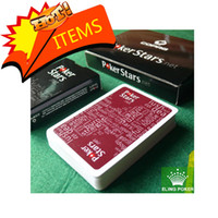 Wholesale 2014 Hot Selling One Wine Red and Black Plastic Colors Can Choose Playing Cards Poker Stars Scrub