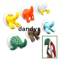 Wholesale 10pcs Cute Animal tail hook Funny animal towel holder kitchen wall hanger Hot Sale BJ dandys
