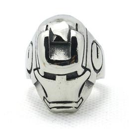 Hot!!Top Iron Man Hero Cool Men Ring Wholesale Price 316L Stainless Steel Top Quality Iron Man Ring