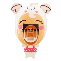 Wholesale Novelty creative cartoon Suction automatic lazy toothpaste dispenser squeeze device hand free Hot sale BJ dandys