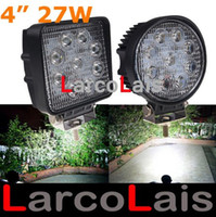 Wholesale LarcoLais with Video quot inch W LED Working Light Spot Flood Lamp Motorcycle Tractor Truck Trailer SUV JEEP Offroad