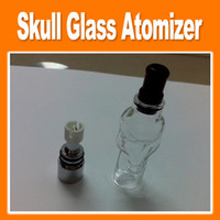 Cheap Replaceable Skull Glass Best Electronic Cigarette Atomizer Skull Glass Tank Atomizer