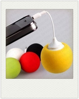 Wholesale 3 mm Portable Balloon Music Speaker for iPhone S s Sponge Speaker For ipad Samsung With Audio Dock Retail Package