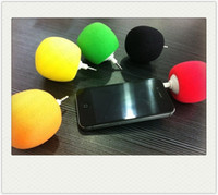 Wholesale 3 mm audio Portable speakers Sponge Balloon speaker Mini Ball Speaker for iPhone s s Samsung S5 i9600 NOTE