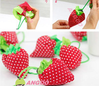 Wholesale T creative large strawberry strawberry shopping bag shopping bags folding bags handbag bags g