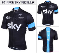 Wholesale 2014 summer Sky UCI Sky Hot sale cycling jerseys shirts short sleeve sports outdoor MTB cycling wear bicycle clothing bike clothes bq001