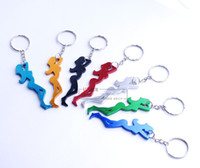 Wholesale Multi Color Aluminum Beautiful Girl Sexy Girl Bottle Opener With Keychain wedding party supply MMX24MM