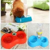 Dogs Feeding & Watering Supplies Y940 Free Shipping(Track NO) Automatic Puppy Water Dispenser Food Dish Bowl Feeder for Dog Cat Pet