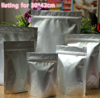 Wholesale Free EMS DHL Fair price Extra Large cm cm zip lock stand up Seal Stand Up aluminum foil bag Self Sealed Food Powder Bag