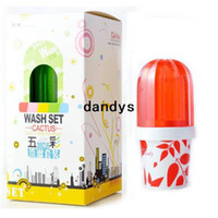 Wholesale New Colorful Cactus Designs Anit Dust Valentine Toothbrush Holder set With Cup Hot sale BJ dandys