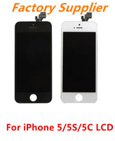 For Apple iPhone LCD Screen Panels I5LCD88802 Free Shipping For iPhone 5 5S 5C LCD Touch Screen Display Digitizer Assembly Replacement High Quality white & black Colors