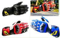 Wholesale RS TAICHI GP WRX MOTORCYCLE RACING LEATHER GLOVE BLACK RED BLUE SIZE M L XL NEW
