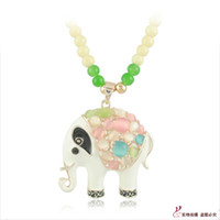 Pendant Necklaces Jade processing Other Thai clothing accessories jade beads long necklace chain long necklace Korean Dress elephant Maitreya
