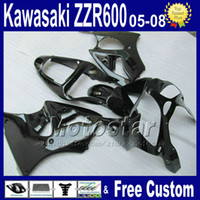 Wholesale 7 gifts High grade motobike fairing set form aftermarket plastic kawasaki ZZR600 all black fairings kit xc20