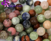 angel stones - Discount Natural Genuine Mix Stone Jade Jasper Round Loose Stone Beads mm Fit Jewelry DIY Necklaces or Bracelets quot