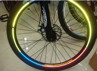 Wholesale 80 sale reflective stickers cycling security amp protection mountain bike reflector bicycles amp accessories dropship bicicleta reflexo